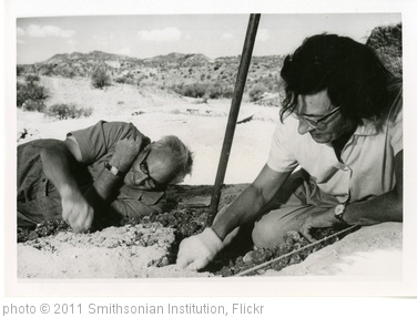 'Mary Douglas Nicol Leakey (1913-1996) and her husband Louis Seymour Bazett Leakey (1903-1972)' photo (c) 2011, Smithsonian Institution - license: http://www.flickr.com/commons/usage/