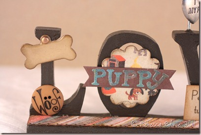 puppy love photo frame closeup