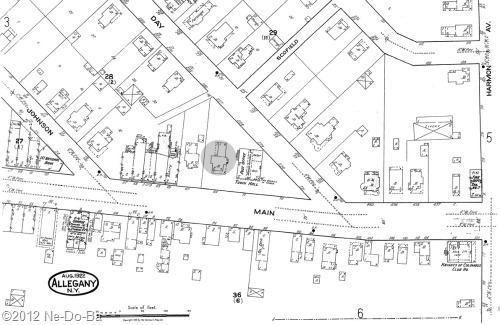 1922 Allegany NY, Sanborn Map Company, map #6
