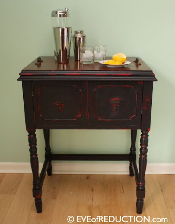 beverage bar from sewing cabinet