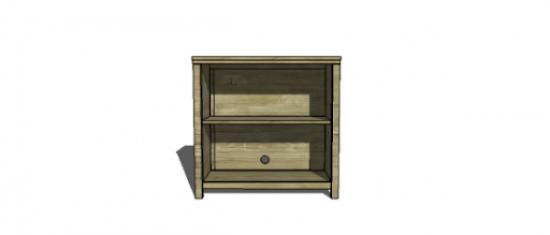 Free DIY Furniture Plans to Build a PB Teen Inspired Stuff your Stuff Bookshelf_0