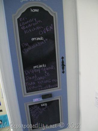 repurposed armoire door