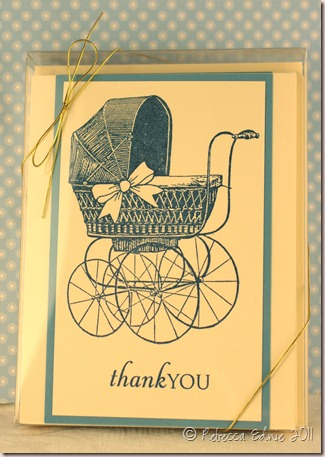 baby buggy card set boxed