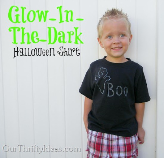 OurThriftyIdeas.com: Glow In The Dark Shirt - Easy Crafting with Kids