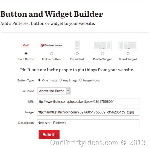 How to add a customized Pin It button to a blogger blog at ourthriftyideas.comHow to add a customized Pin It button to a blogger blog at ourthriftyideas.com