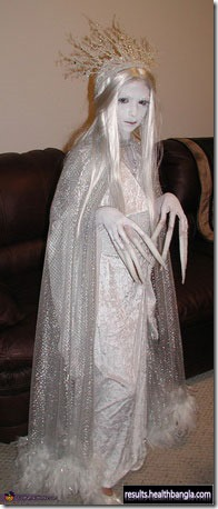 white ghost halloween costume