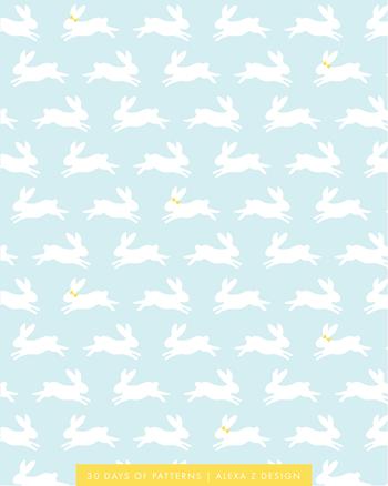bunnies pattern 30 Days of Patterns Alexa Z Design