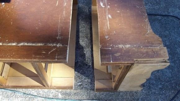 damaged vintage desk fix