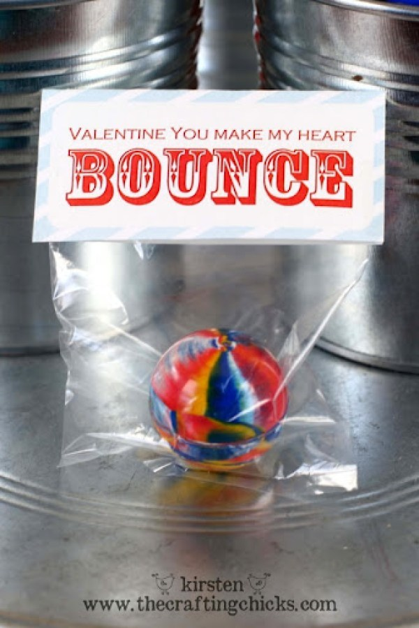 Free Bouncy Ball Valentine Printable by The Crafting Chicks