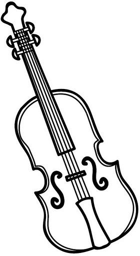 Dibujos Para Colorear Violin