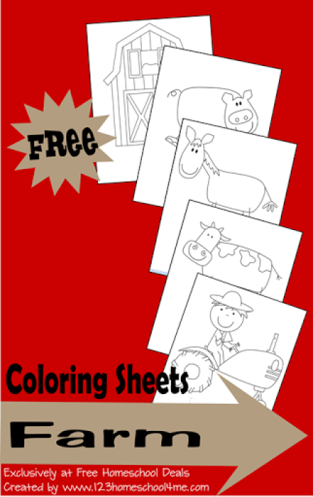 coloring sheets - farm