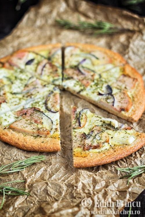 pizza dukan cu pui 1