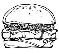 Dibujos de hamburguesas para colorear