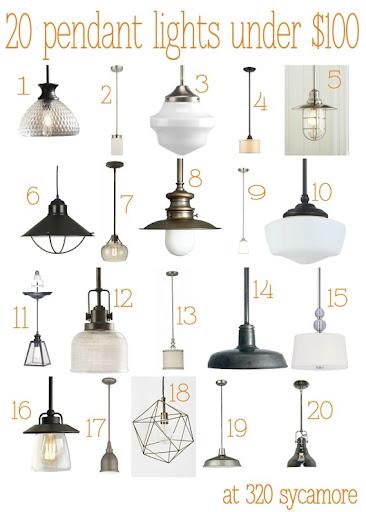 kitchen pendant light fixtures cedar cabinets 20 great lights under 100 lighting 320 sycamore