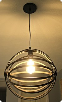 DIY orb light fixture from Thrifty Decor Chick