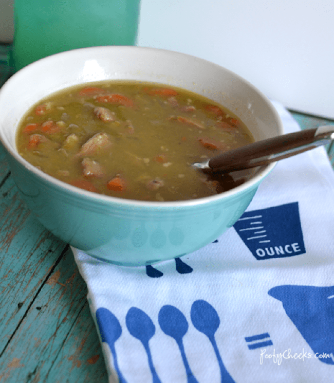 Leftover Ham Split Pea Soup