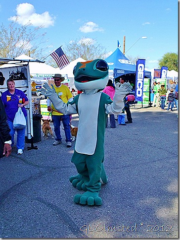 The Geicko gecko at Gold Rush Days Wickenburg Arizona