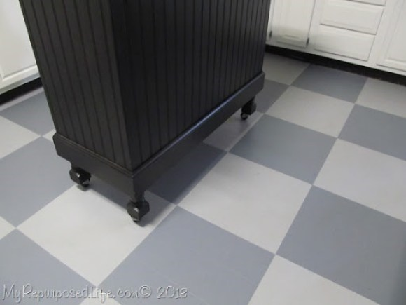 gray painted floor