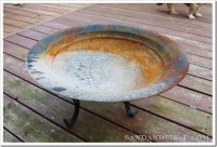 Repainting an Old Fire Pit - Sand and Sisal