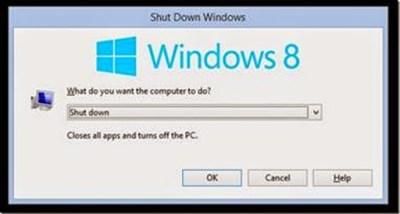 cara shutdown komputer dengan keyboard