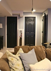 One more black door from Thrifty Decor Chick