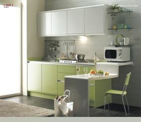 cocinas-modernas-verdes Cocinas de diseño