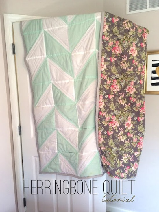 Herringbone Quilt Tutorial | Shan Made