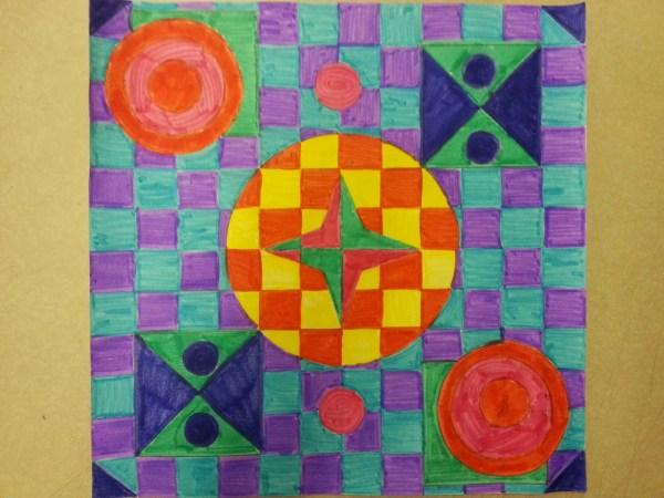 Mintart Abstract Geometric Radial Design