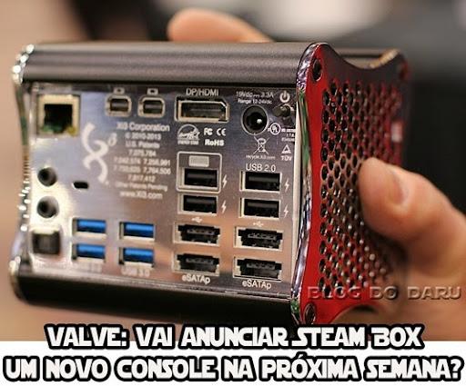 Valve: Vai anunciar SteamBox novo console na próxima semana?