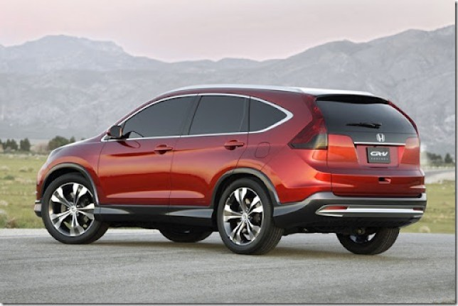 The 2012 CR-V Concept indicates the styling direction for the all-new, fourth-generation, U.S.-market production model set to debut in late 2011. The all-new CR-V will offer an added dimension of style, improved fuel economy, amazing interior versatility and Honda's latest technologies for convenience and refinement.