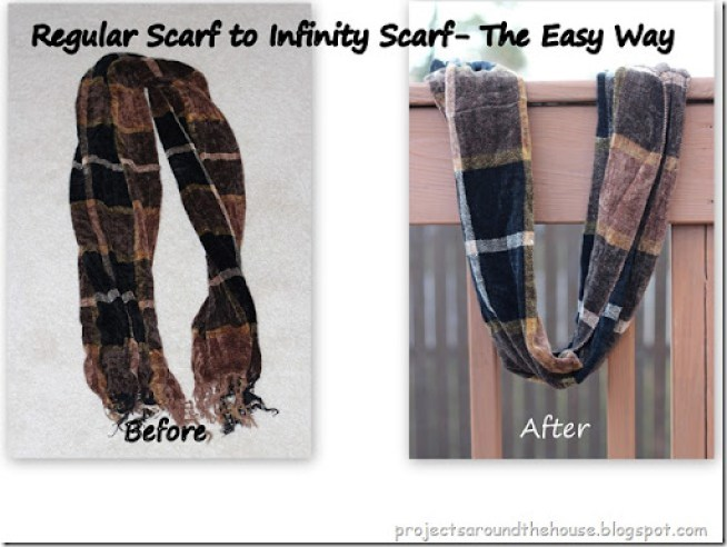regular scarf to infinity scarf easy