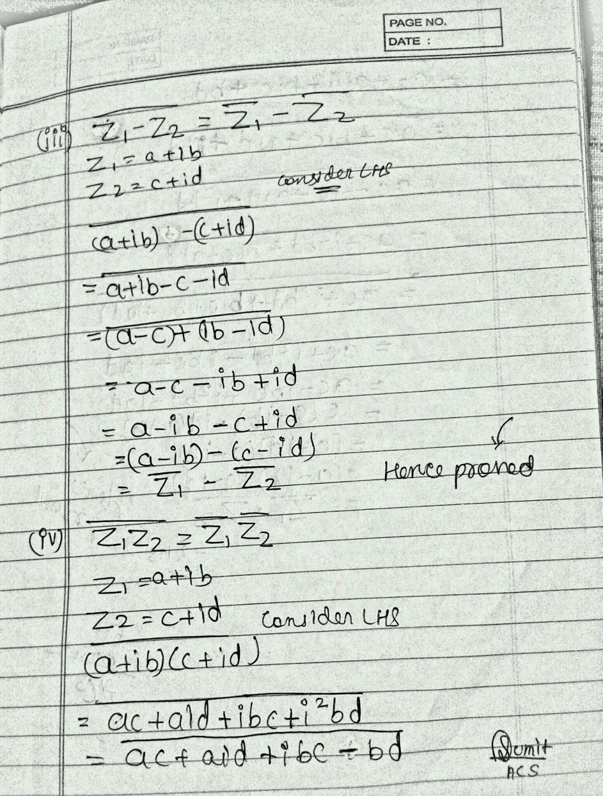 ALL CBSE STUFF ©: Properties of Conjugate with