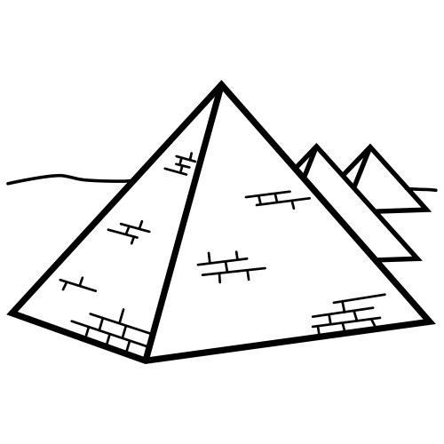 Colorear Piramide Egipto Dibujos Para Pintar