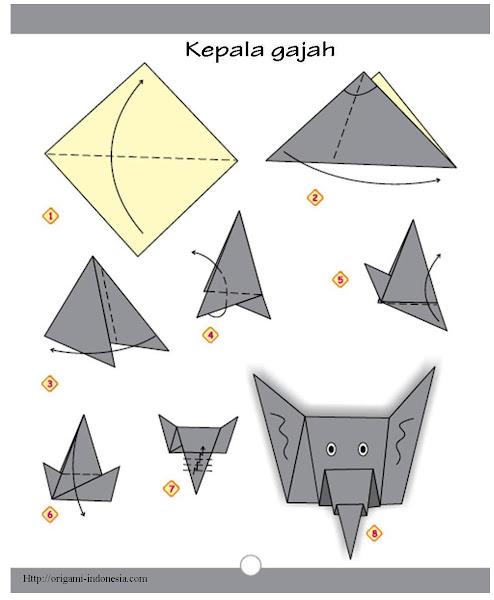 Cara Membuat Terompet Dari Karton : membuat, terompet, karton, Langkah-langkah, Membuat, Origami, Kepala, Gajah, Fachri's