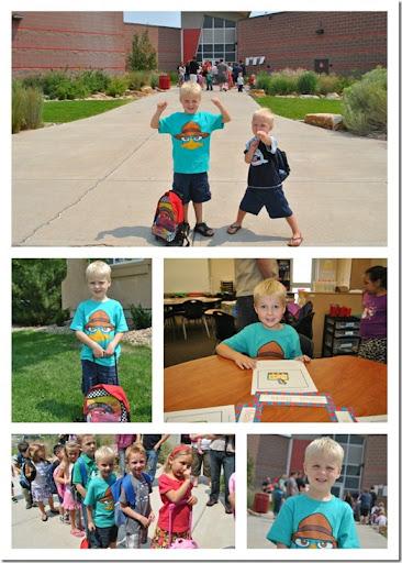 Josh's first day of kindergarten