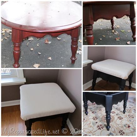 small footstool
