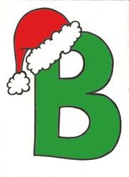 Bon Nadal, letras grandes para imprimir