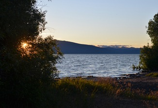 sunset over Shoalwater Bay from Eagle Ridge Park