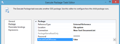 Execute Package task configuration 01
