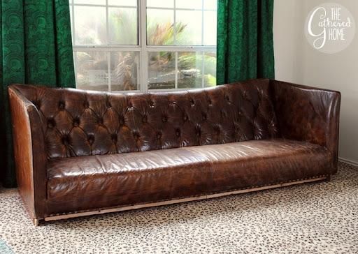 Leather High Back Sofa Thesofa