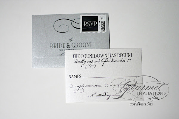 New Years Eve Wedding Invitation: Lauren + Joseph: New Year's Eve Wedding Invitations