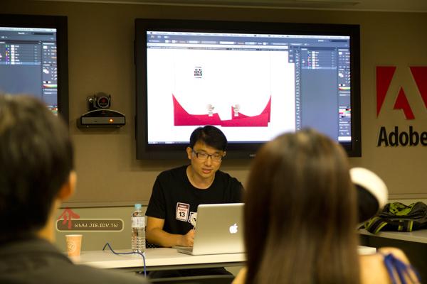 Adobe台北總公司部落客聚會活動馬克現場示範