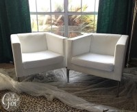 DIY Ikea Hack Cream and Black Club Chairs - The Gathered Home