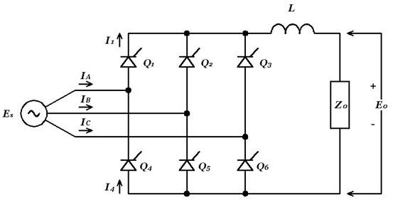 3 Phase Static Converter Wire Diagram Thyristor Three Phase Six Pulse Converter Power