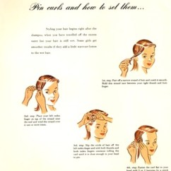 Pin Curl Diagram Setting Up A Chess Board Lavender Twill Curls 101 The Basics Of Vintage Curling Illustration