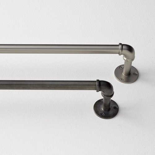 DIY Industrial Curtain Rods  Lovely Etc