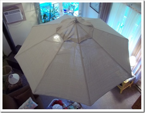 Replace fabric on umbrella