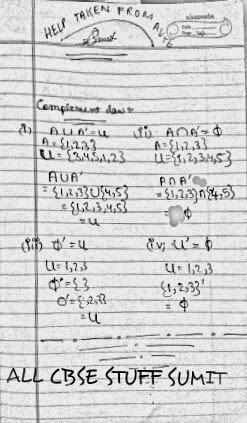 ALL CBSE STUFF ©: Complement law help taken from AVTE