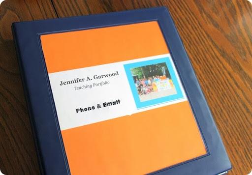 Page Sample Portfolio Cover Teacher