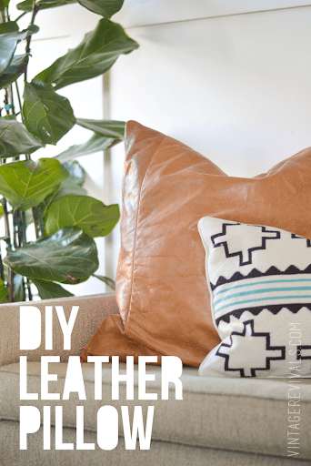 DIY Leather Pillow Tutorial & How To Sew A Zippered Pillow Cover